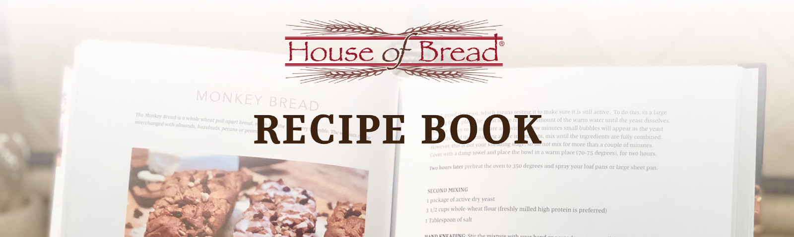 "House of Bread Recipe Book"" style="
